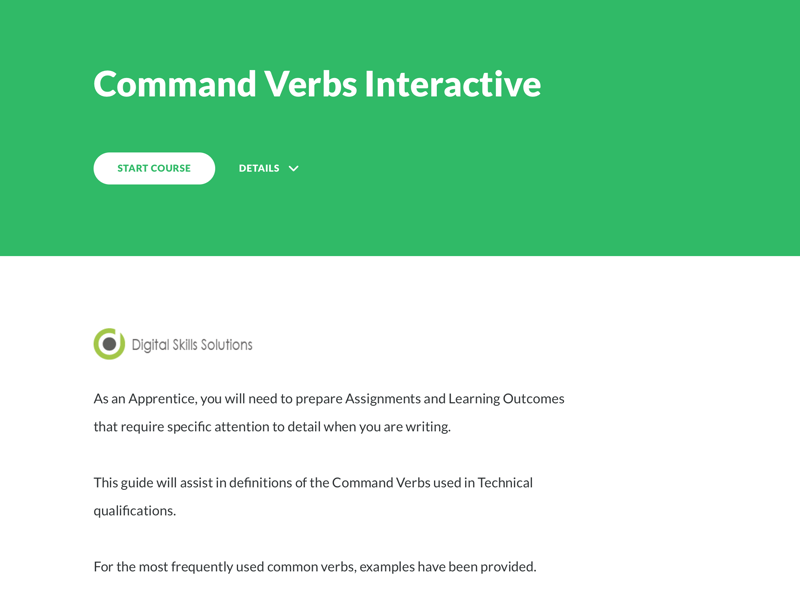 Command Verbs – Articulate 360 Rise