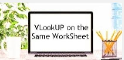 Webinar style – VlookUp in Excel