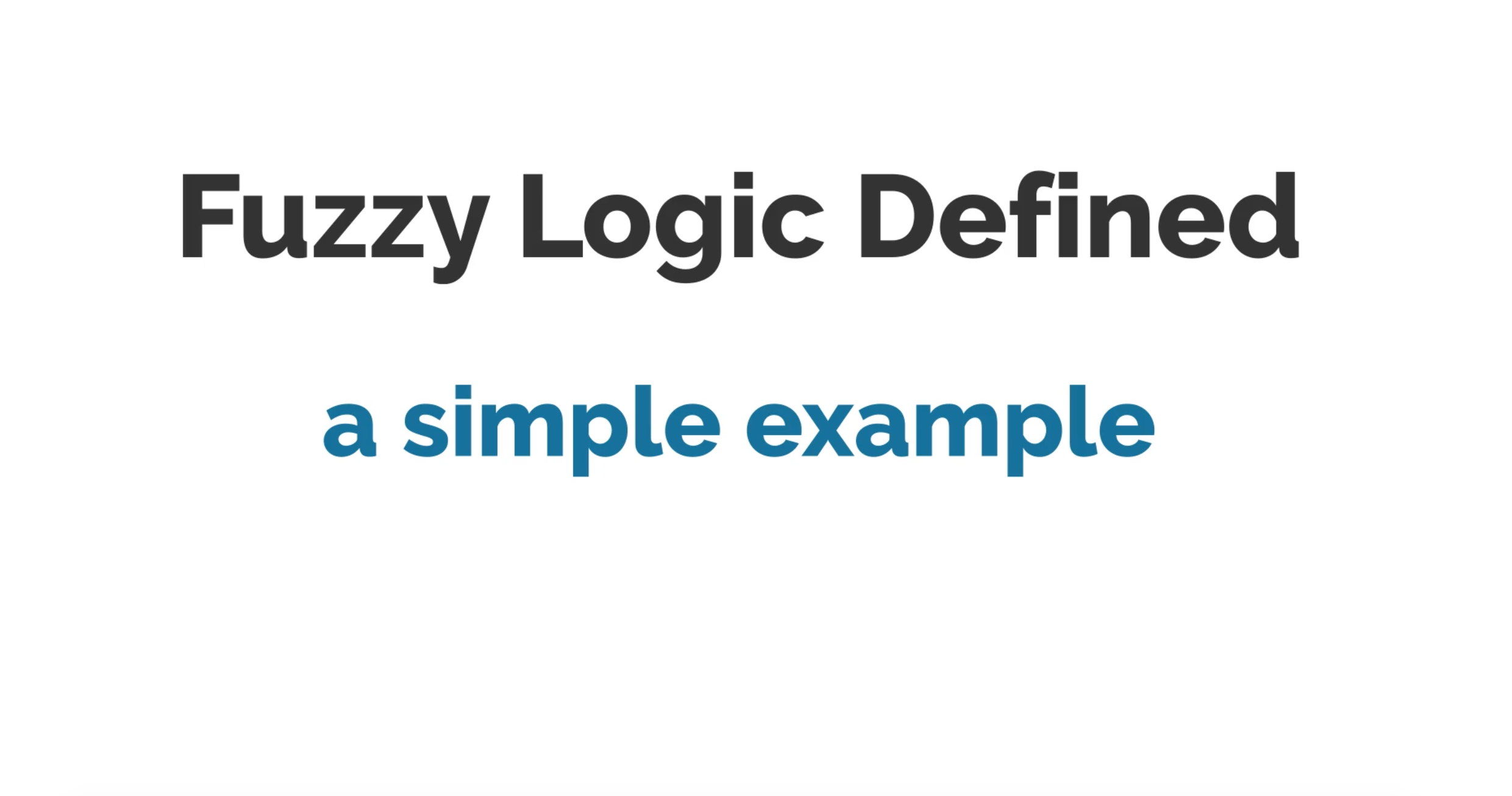 Fuzzy Logic – Vyond animation video
