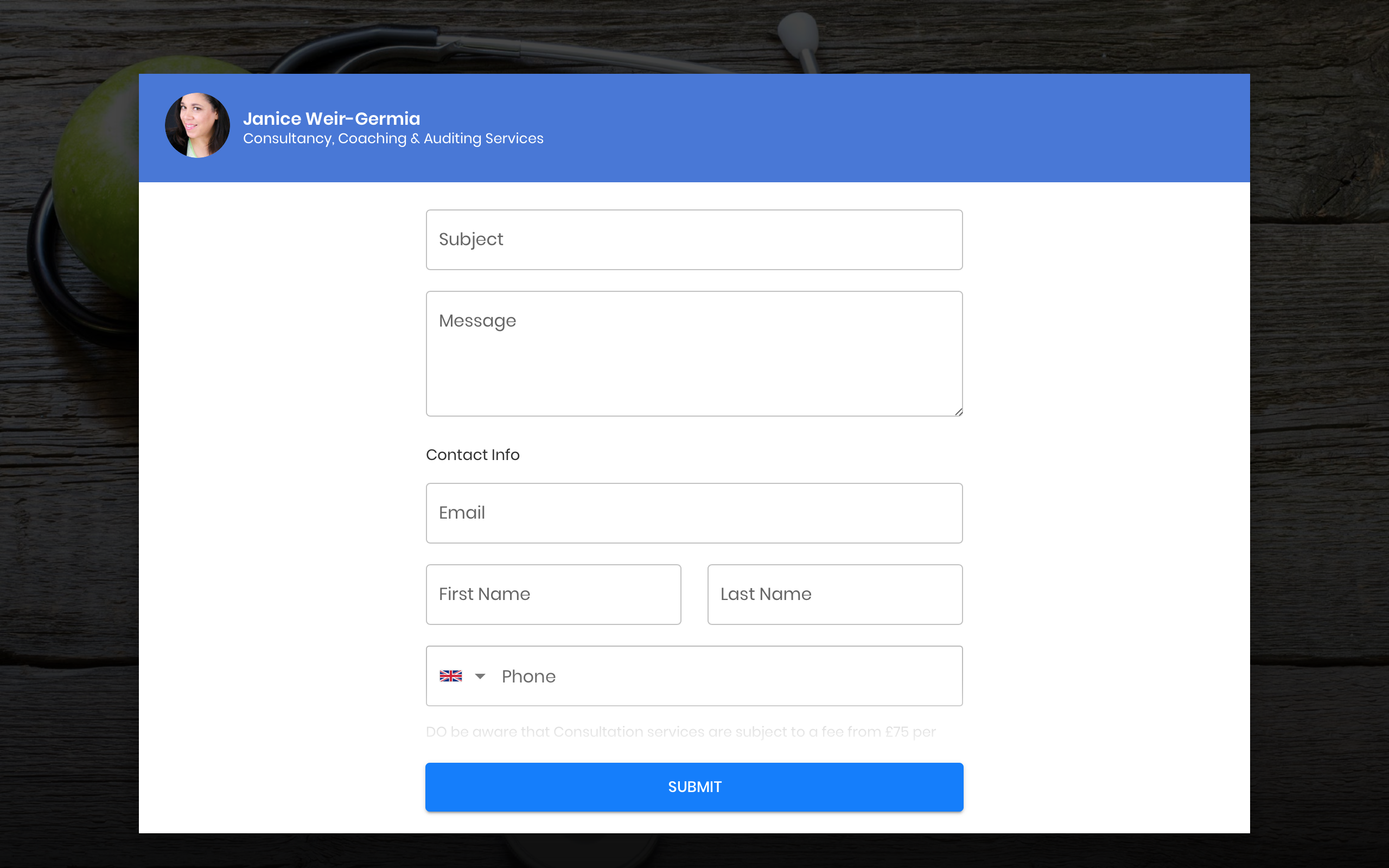 Modal button takes user to an external site takes you to a form